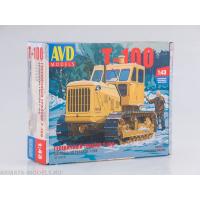 упаковка игры Трактор гусеничный Т-100 1:43