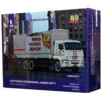 упаковка игры Бортовой KAMAZ-65117 с тентом (рестайлинг) 1:43