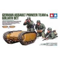 упаковка игры Немецкая передовая команда с устройством Goliath 1:35