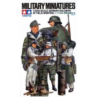 упаковка игры Немецкие солдаты 5 фигур зимний вариант 1:35