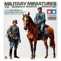 упаковка игры Немецкий солдат на коне с фигурой солдата 1:35