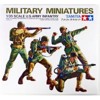 упаковка игры Американские пехотинцы в атаке 8 видов оружия 4 фигуры 1:35