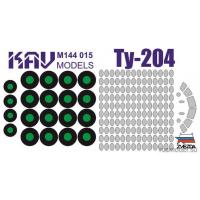 упаковка игры KAV M144 015 Окрасочная маска на Ту-204 (Звезда)