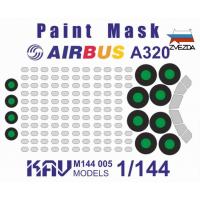 упаковка игры KAV M144 005 Окрасочная маска на Airbus A320 (Звезда)