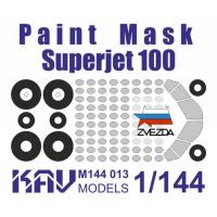 упаковка игры KAV M144 013 Окрасочная маска на Superjet 100 (Звезда)