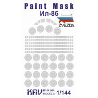 упаковка игры KAV M144 004 Окрасочная маска на Ил-86 (Звезда)