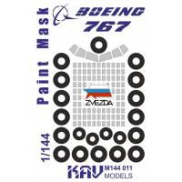 упаковка игры KAV M144 011 Окрасочная маска на Boeing 767 (Звезда)