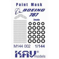 упаковка игры KAV M144 002 Окрасочная маска на Boeing 787 Dreamliner (Звезда)