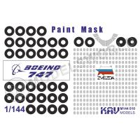 упаковка игры KAV M144 010 Окрасочная маска на Boeing 747-8 (Звезда)