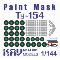 упаковка игры KAV M144 001 Окрасочная маска на Ту-154М (Звезда)