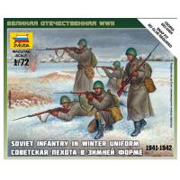 упаковка игры Советская пехота в зимней форме 1:72