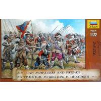 упаковка игры Масштабная модель солдаты Австрийские мушкетеры и пикинеры 1:72