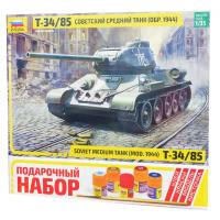 упаковка игры Танк Т-34/85 подарочный набор 1:35