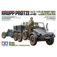 упаковка игры Грузовик Krupp Protze с 37 мм пушкой 1:35