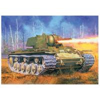 упаковка игры Тяжелый огнеметный танк КВ-8 1942 г. 1:35