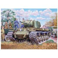 упаковка игры Тяжелый танк КВ-9 с 122мм пушкой 1:35