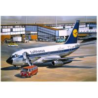 упаковка игры Авиалайнер Б-731 Lufthansa 1:144