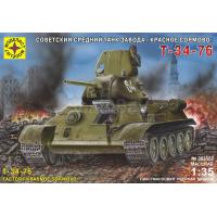 упаковка игры Танк Т-34-76 завода Красное Сормово 1:35