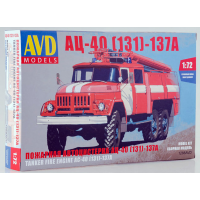 упаковка игры Пожарная автоцистерна АЦ-40(131)-137А 1:72
