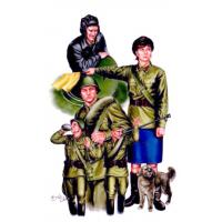 упаковка игры Советские танкисты с регулировщицей 1:35