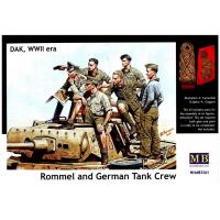 упаковка игры Фигуры Роммель и немецкий Танковый Экипаж, ДАК 2МВ 1:35