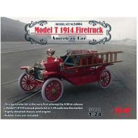 упаковка игры Model T 1914 Firetruck, Американский пожарный автомобиль 1:24