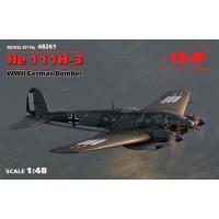 упаковка игры He 111H-3, Германский бомбардировщик ІІ МВ 1:48