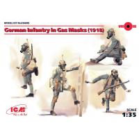 упаковка игры Фигуры, Германская пехота в противогазах (1918 г.) 1:35