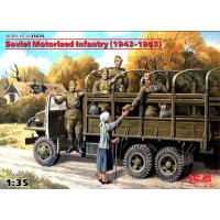 упаковка игры Советская мотопехота (1943-1945), (5 фигур) 1:35