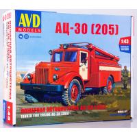 упаковка игры Пожарная автоцистерна АЦ-30 (205) 1:43