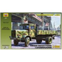 упаковка игры Немецкий грузовик с деревянной кабиной