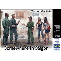 упаковка игры Фигуры, где-то в Сайгоне. Серия войны во Вьетнаме 1:35