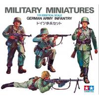 упаковка игры Немецкие пехотинцы 4 фигуры 1:35
