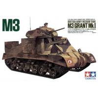 упаковка игры Английский средний танк М3 GRANT Мк I с 1 фигурой 1:35