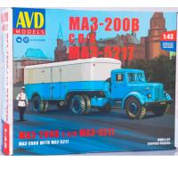 упаковка игры МАЗ-200В с п/п МАЗ-5217 1:43