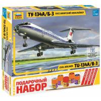 упаковка игры Авиалайнер Ту-134 А/Б-3 1:144 подарочный набор