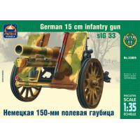 упаковка игры Немецкая 150-мм полевая гаубица 1:35