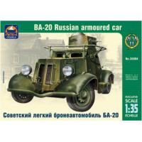 упаковка игры Советский легкий бронеавтомобиль БА-20 1:35