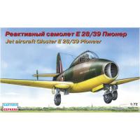 упаковка игры Реактивный самолет Gloster Pionier 1:72
