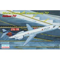 упаковка игры Авиалайнер Boeing 717 Delta 1:144