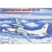 упаковка игры Транспортный самолет Ан-32 Аэрофлот/UN 1:144