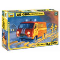 упаковка игры УАЗ 3909 Пожарная служба 1:43