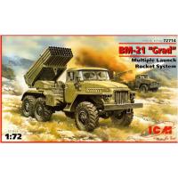 упаковка игры Ракетная система залпового огня БМ-21 «ГРАД» 1:72