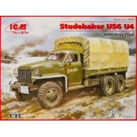упаковка игры Грузовик Studebaker US6 U4 с тентом, лебедкой 1:35