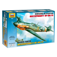 упаковка игры Самолет Мессершмитт BF-109F2 1:48