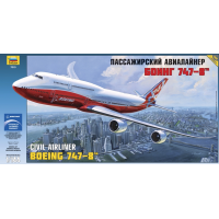 упаковка игры Самолет Боинг 747-8 1:144