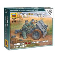 упаковка игры Немецкое 75-мм пехотное орудие с расчетом 1:72