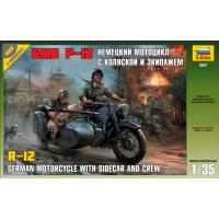 упаковка игры Немецкий мотоцикл БМВ Р-12 1:35