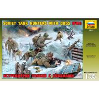 упаковка игры Истребители танков с собаками 1:35