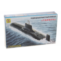 упаковка игры Подводный ракетный крейсер Тайфун 1:700